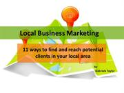 Local Business Marketing - 11 ways to find and reach potential clients