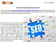 Tools and Techniques of SEO Services in India