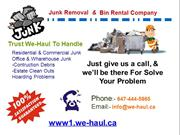 Junk Removal Mississauga & Toronto Experts service