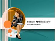 Stress Management Training ppt