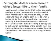 Surrogate Mothers earn more to offer a better life to their family