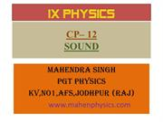 IX Physics Sound