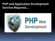 PHP Web Application Development Services