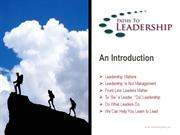 Paths to Leadership Intro