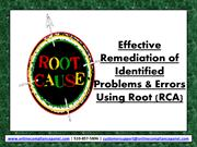 Root Cause Analysis Tools-Root Cause Analysis Training