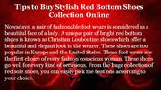 Tips to Buy Stylish Red Bottom Shoes Collection Online