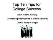 Top 10 tips for college success at DVC