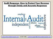 Internal Auditing and Audit Response Letter