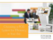 Choose a POS system for Efficiency in Your Bar
