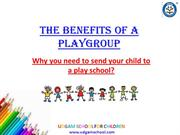 Best Playgroup and Nursery School - Udgam School for Children