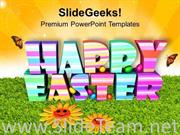 HAPPY EASTER THEME WITH 3D POWERPOINT TEMPLATE