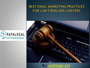 Email marketing tips for lawyers and Law firms