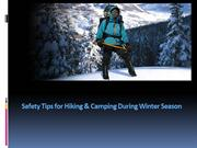 Safety Tips for Hiking  During Winter