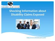 Shocking Information about Disability Claims Exposed