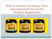 Increase you Energy with Pre Workout Supplements