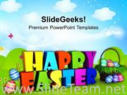WISHING HAPPY EASTER WISHES POWERPOINT TEMPLATE