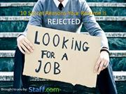 10 secret reasons your resume is rejected