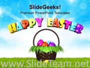 WISH YOU HAPPY EASTER WITH BRIGHT THEME POWERPOINT TEMPLATE