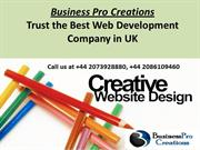 Professional Website Design in Company London