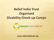 Relief India Trust Organized Disability Check-up Camps