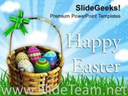 WARM WISHES OF HAPPY EASTER POWERPOINT TEMPLATE