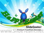WISH YOUR FRIENDS HAPPY EASTER POWERPOINT TEMPLATE