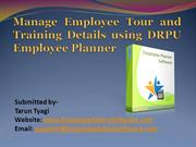 Manage Employee Tour and Training Details using DRPU