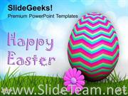 WISHES OF HAPPY EASTER WITH TEXT POWERPOINT TEMPLATE