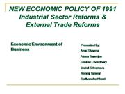 NEW ECONOMIC POLICY 1991