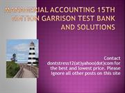 Managerial Accounting 15th garrison