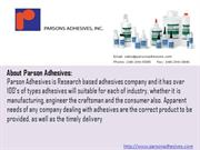 Plastic Bonding Adhesives - Parson Adhesives