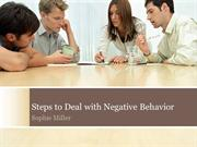 Steps to Deal with Negative Behavior