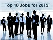 10 Best Jobs and Career Options for 2015