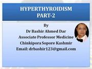 HYPERTHYROIDISM PART-2 BY DR BASHIR ASSOCIATE PROFESSOR MEDICINE