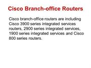 Cisco Branch-office Routers