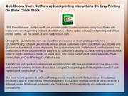 QuickBooks Users Get New ezCheckprinting Instructions On Easy Printing