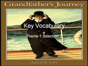 Vocabulary Grandfather's Journey