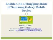 Enable USB Debugging Mode of Samsung Galaxy Mobile