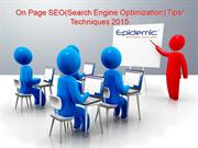 On Page SEO(Search Engine Optimization) Tips Techniques 2015