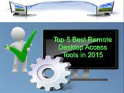 Top Five Best Remote Desktop Access Tools in 2015