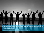 Empowering Supply Chain Transformation