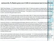 Jacksonville, FL Realtor gives over 41,000 of commissions