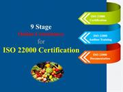 9 Stage Online Consultancy for ISO 22000 Certification