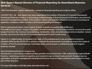 Nick Speers Named Director of Financial Reporting for AmeriQuest