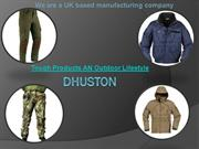 DHUSTON Tough Products AN Outdoor Lifestyle