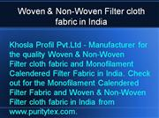 Woven & Non-Woven Filter cloth fabric in