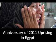 Tragedy on the Anniversary of 2011 Uprising in Egypt.