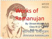 WORKS OF RAMANUJAN