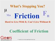 Coeffificients of Friction