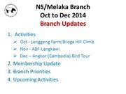 MNS N9_Melaka Activities Oct_Dec 2014_